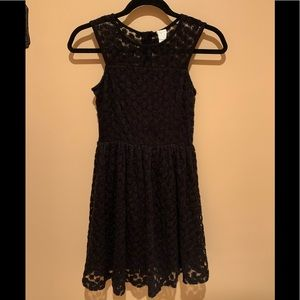 Ella moss girls Taylor embroidered mesh fit dress